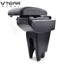 Vtear For Peugeot 107 podłokietnik stylizacja samochodu podłokietnik konsola środkowa USB schowek na akcesoria dekorowana ze skóry wnętrze auto