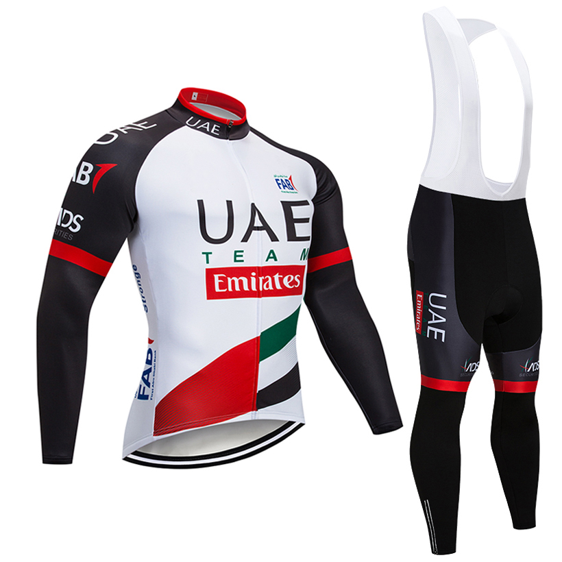 Winter TEAM UAE Pro Cycling Jersey 20D Pad Bike Pants Suit Ropa Ciclismo Thermal Fleece Bicycling Wear Maillot Bottoms