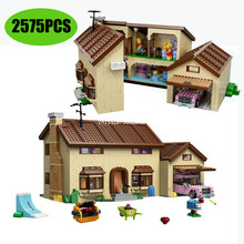 2575pcs Compatible lepining 16005 83004 THE Simpsons Series 71006 Models Building Simpsons House Bui