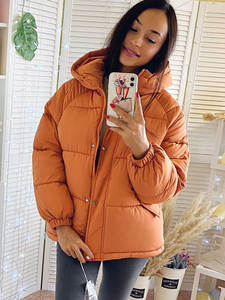 Hooded Jacket Outwear Parkas Coat Winter Thick Solid