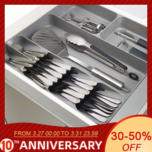 Plastic Drawers Utensils-Tray Storage-Cabinet Cutlery Kitchen-Tools