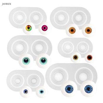 6 tamaños de moldes de resina para muñeca ojos molde muñeca pesada pupila ojo Domo silicona moldes Kit