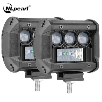 NLpearl Light Bar/Work 50W 100W 200W CREE Led Bar Offroad 4x4 ATV Truck Tractors Spotlight 5D LED Work 12V 24V