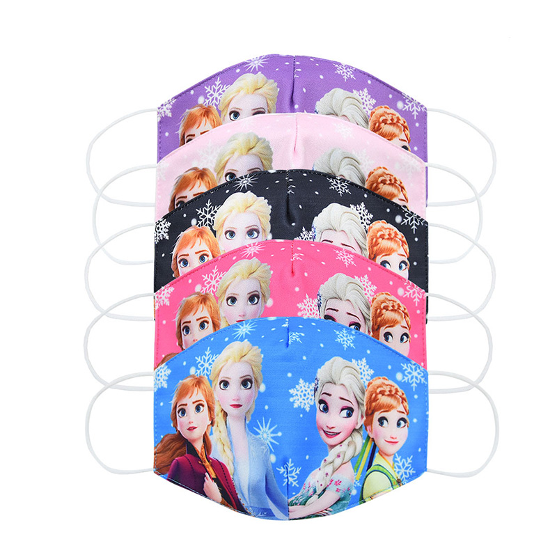 Disney Frozen Children's Face Maks Washable Frozen 2 Elsa Anna Olaf Cotton Anti-Dust Protective Maks For Boys Girl Toys