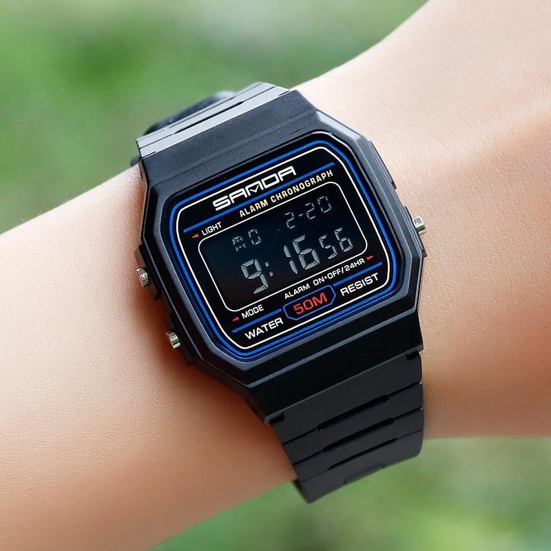 SANDA Брендовые спортивные часы детские часы для девочек и мальчиков наручные часы водонепроницаемые наручные электронные цифровые детские