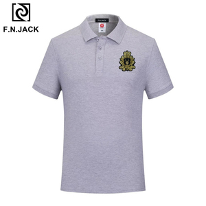 Image 3 - F.N.JACK  Mens Classic Polo Shirt Trending  Cotton Short Sleeve Tops For Man