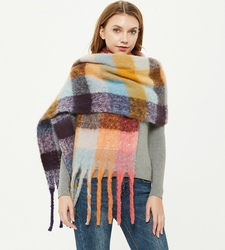 2020 new Autumn/Winter olid-colored scarf shawl scarves women Thick tassel scarf 17558