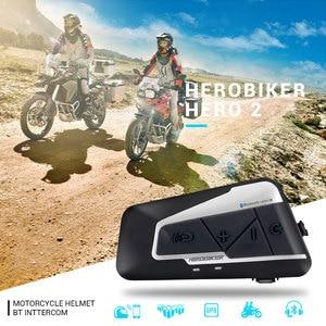 Image 5 - Herobiker 1200M Motorfiets Intercom Helm Headset Helm Bluetooth Intercom Draadloze Waterdichte Moto Headset Interphone 2 Ritten