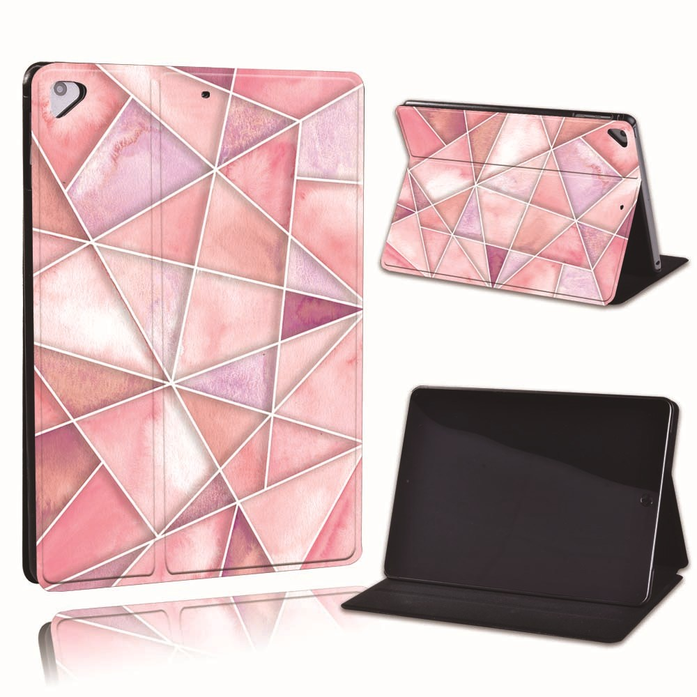 18.rose pink Champagne For Apple iPad 8 10 2 2020 8th 8 Generation A2428 A2429 PU Leather Tablet Stand