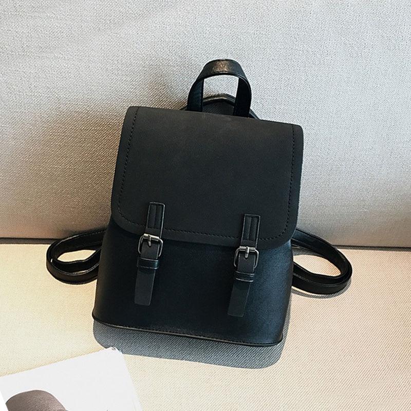 Mini Backpack Women PU Leather Shoulder Bag For Teenage Girls 2020 New Fashion Small Bagpack School Bag Ladies Casual Backpack