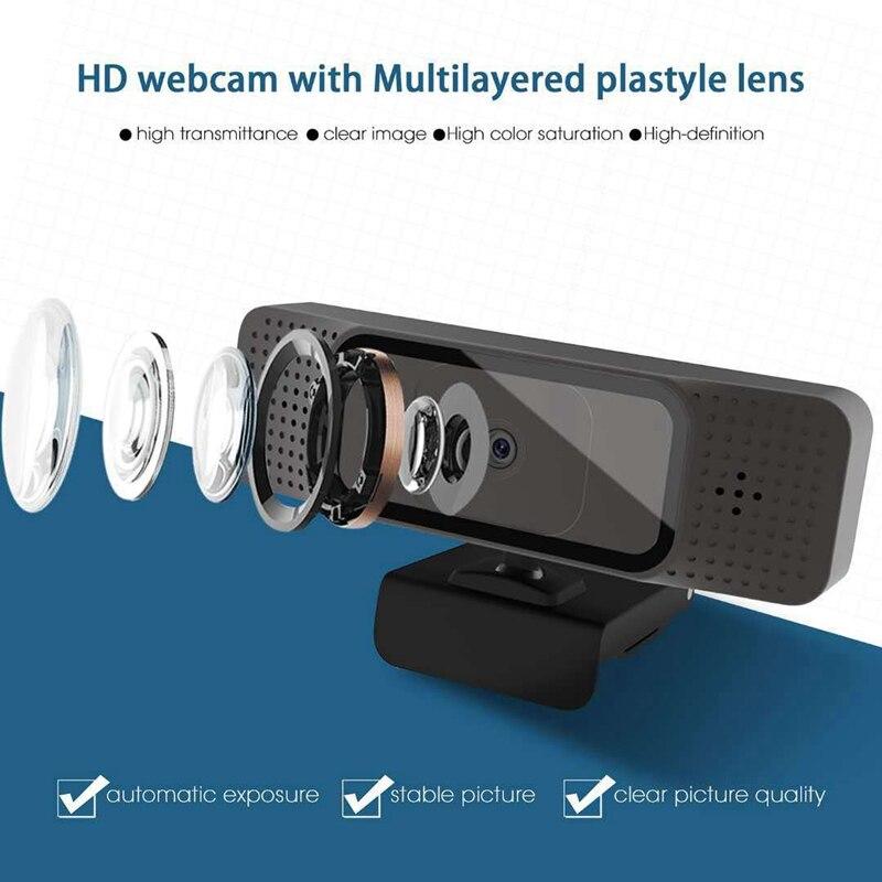 microfone embutido autofoco vídeo conferência transmissão ao vivo câmera de classe de rede