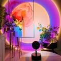 Светодиодный закат лампа живые обои атмосферу светильник Rainbow Sunset красный лазерный проектор USB Ночной светильник Настольная лампа для Спал...