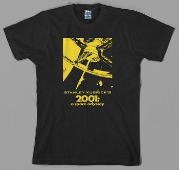 2001 kosmiczna koszulka Odyssey-Stanley Kubrick Movie State 9000 Space Nasa Shining tanie i dobre opinie Daily TR (pochodzenie) Cztery pory roku Z okrągłym kołnierzykiem tops Z KRÓTKIM RĘKAWEM SHORT Short sleeve Z szyfonu