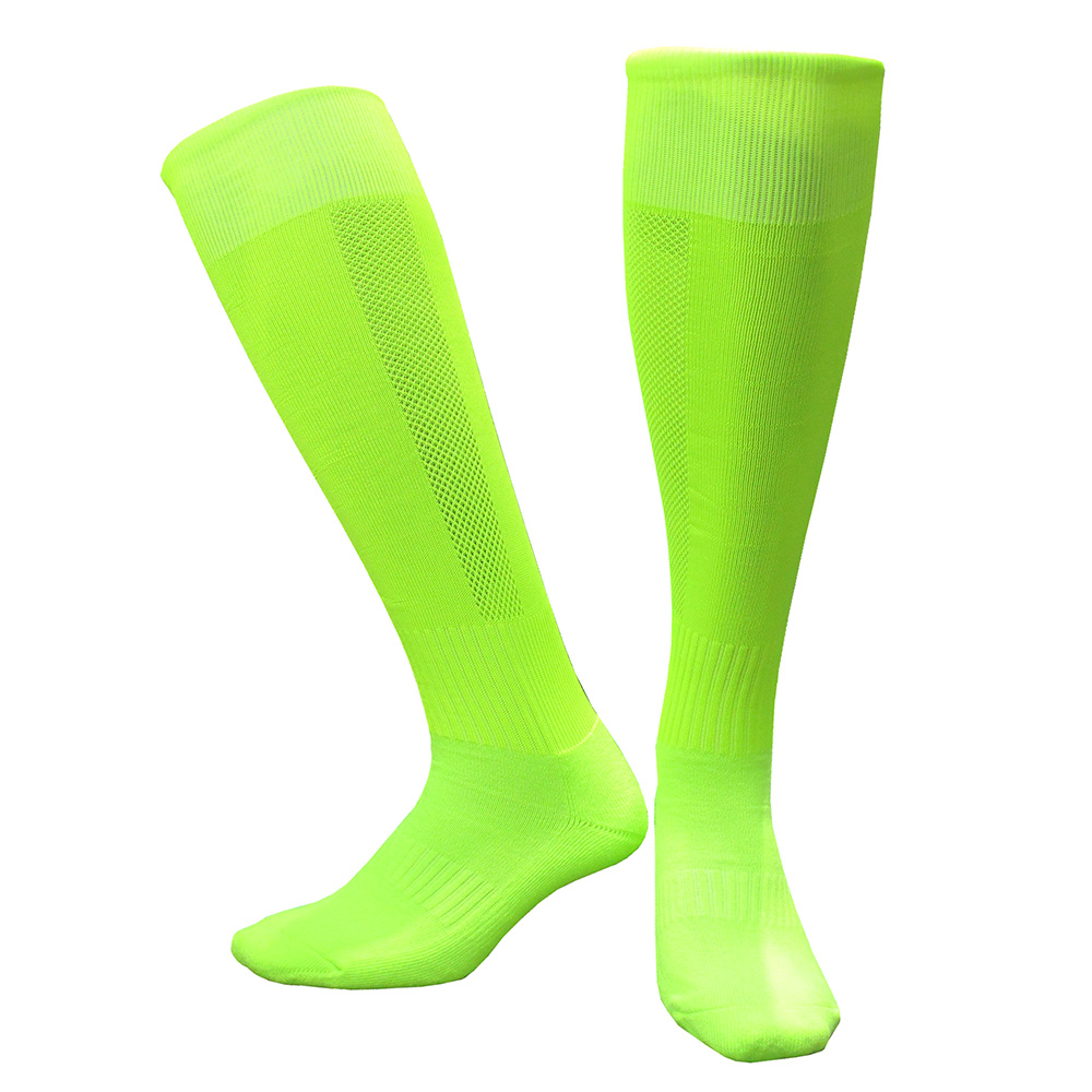 CTM005荧光绿毛巾底足球袜 副本