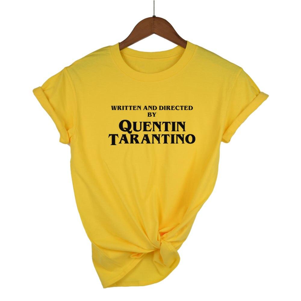ecrit-et-realise-par-quentin-font-b-tarantino-b-font-femmes-sexy-t-shirt-mince-col-rond-jaune-cadeau-de-mode-drole-hotmess-haut-en-coton-t-shirts