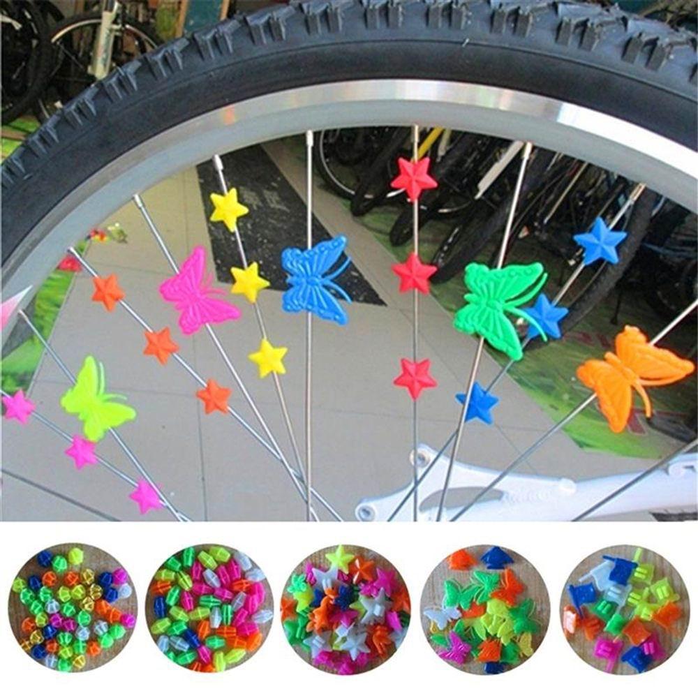 36Pcs Kids Bicycle Safety Multi-color Bike Wheel Clip Decoration Spoke Beads,