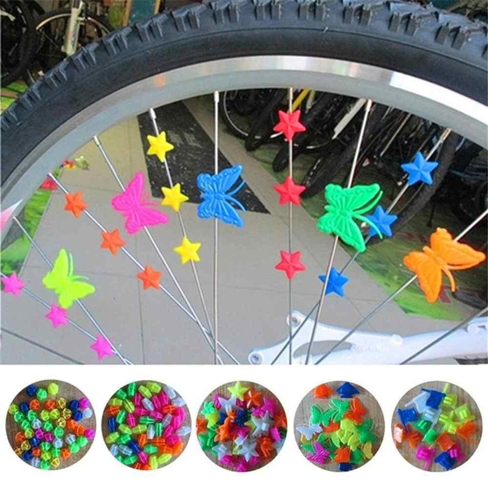 Bicycle Bike Wheel Colorful Plastic Spoke Bead Children Kids Clips Decorations