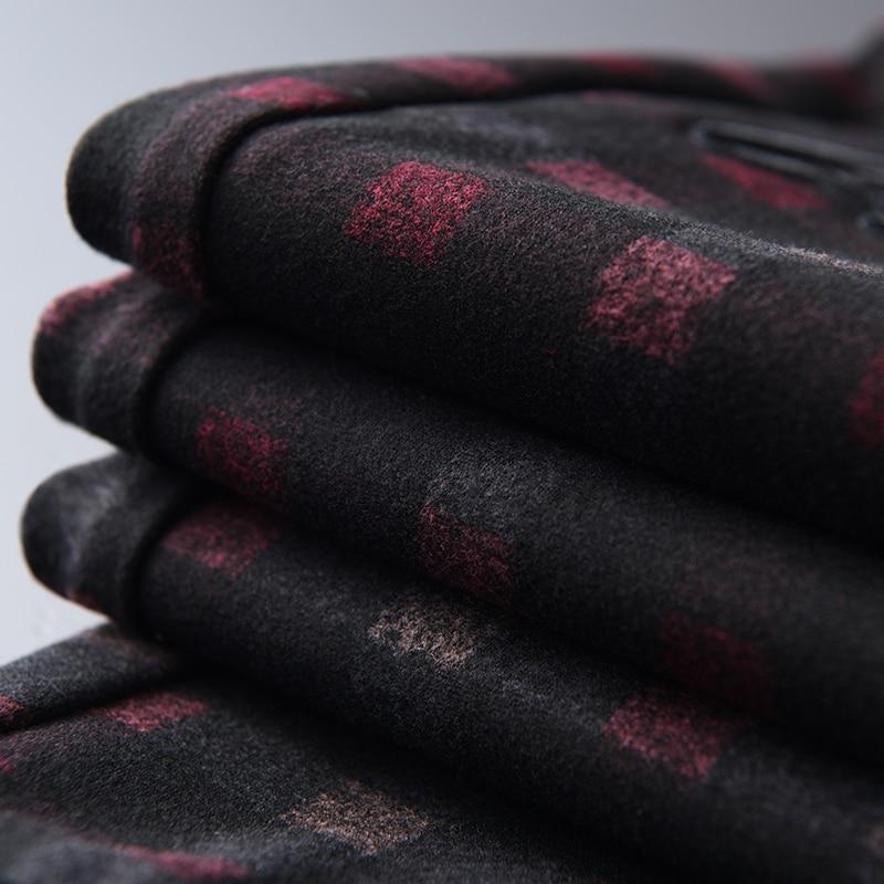 Image 4 - Мужские клетчатые брюки Minlgu, роскошные осенние трикотажные  повседневные спортивные мужские брюки с вышивкой, мужские брюки с  эластичной резинкой на талии, облегающие мужские брюки размера  плюсПовседневные брюки