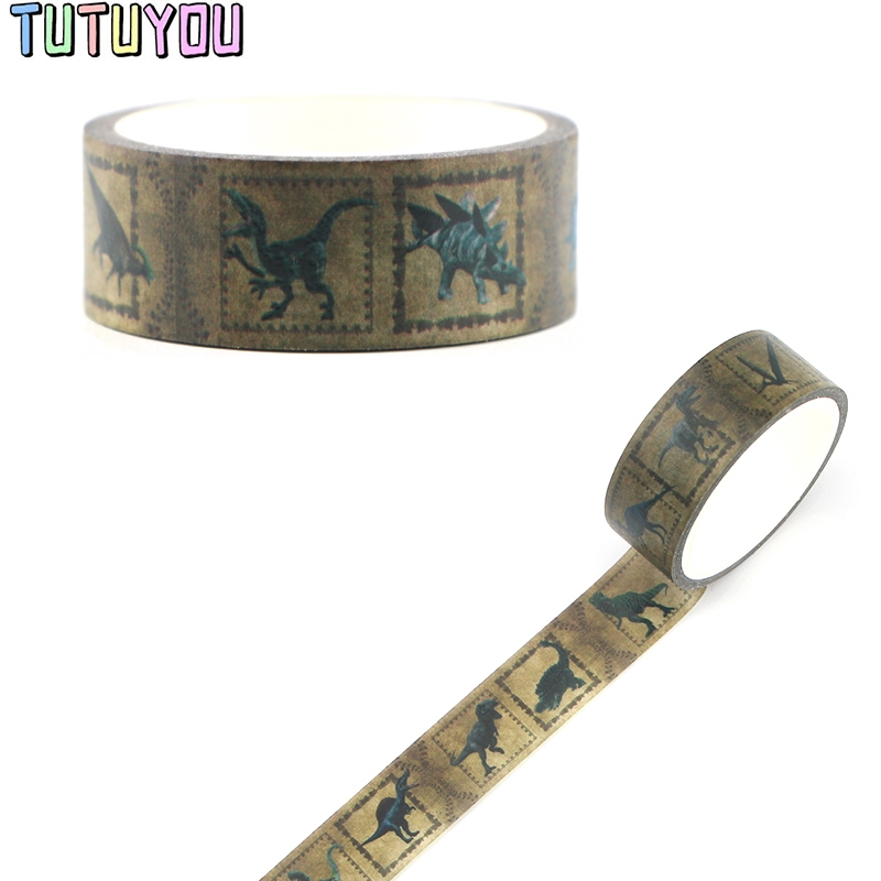 PC321 Dinosaur Cute Cartoon Dinosaur Washi Tapes Scrapbooking DIY Deco Creative Kawaii Masking Tapes