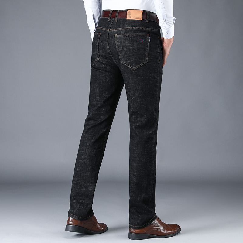 Men's Pants Plus Size Four Seasons Street Fit Business Casual Belt Fashion Straight Brand Classic Jeans Straight Micro-bomb