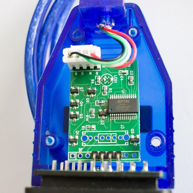 FT232RL VAG-COM Carro Chip de Interface USB Vag-com Cabo KKL 409.1 OBD2 II Auto Scanner de Diagnóstico Vag Cabo USB -Com cabo de interface
