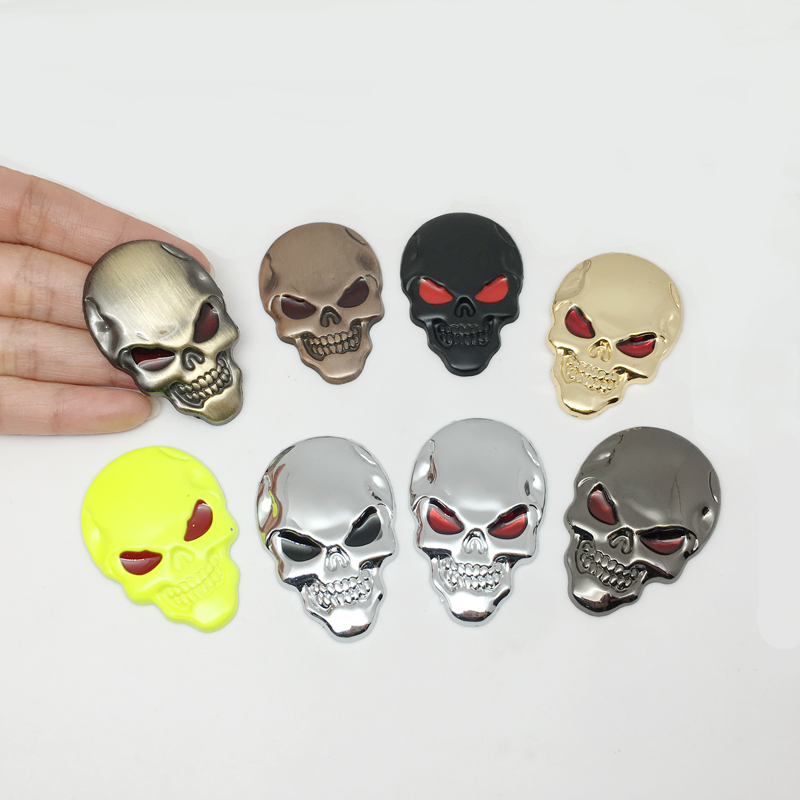 Car Styling 3D Metal The Punisher Skull Emblem Badge Car Sticker For Audi Chevrolet Golf Polo Opel Toyota Mazda Nissan Hyundai