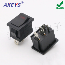 5pcs Rocker switch 4 feet 2 gears with lights Boat Opening 21*15 Cat eye Car modification