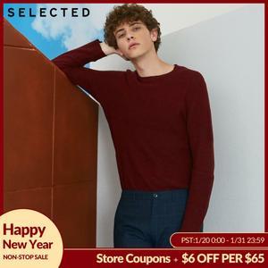 SELECTED Men's 100% Cotton Pullover Swea