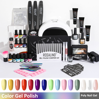 ROSALIND Set di strumenti per unghie Set di smalti per Gel per unghie per Manicure Art smalti per Gel Semi permanenti lacca Base superiore per Kit per unghie