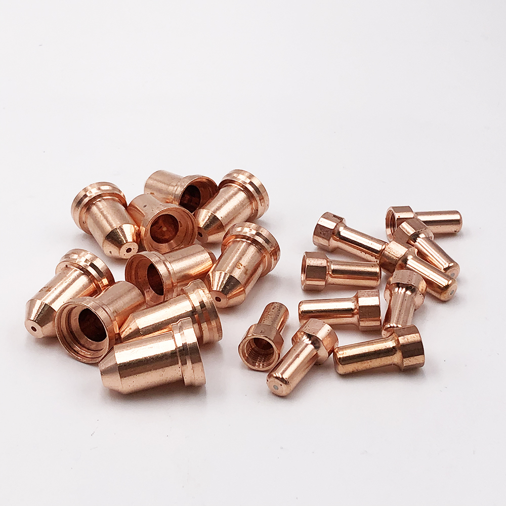 PT-80 PT80 PTM80 IPT80 IPT-80 Electrode 10pcs Nozzle  10pcs PT80 Plasma Consumable for Plasma Cutting Torch