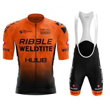 HUUB cycling Jersey suit Team Ribble Weldtite Bike Jersey Set  Summer Men clothing Short Sleeve Shirts Mtb Maillot Ropa Ciclismo orangutan cycling jersey tops summer cycling clothing ropa ciclismo short sleeve mtb bike jersey shirt maillot ciclismo 5114
