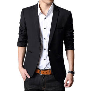Men Blazer Male Jackets Business-Suit Wedding-Dress Patchwork Woolen Fashion Luxury Tide