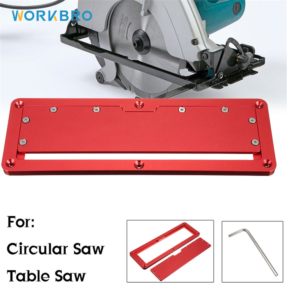 NEW Electric Circular Saw Flip Cover Plate Adjustable Aluminium Insert Plate for Table Saw Flip-Floor Table Special Cover Plate