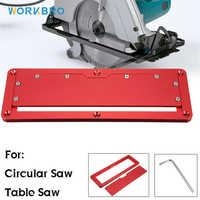 Placa de cubierta abatible de sierra Circular eléctrica Placa de inserción de aluminio ajustable para Sierra de mesa, mesa de suelo abatible, placa de cubierta especial, novedad