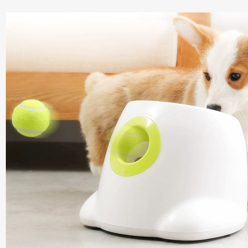 Dog Pet Toys Tennis Launcher Automatic Training Ball Pet Toy Ball Throwing Tennis Ball  Section Emission Balls Dog Training