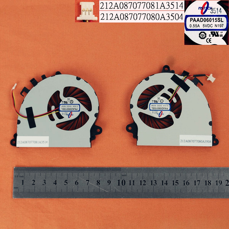 New Laptop Cooling Fan for <font><b>MSI</b></font> GS70 <font><b>GS72</b></font>(a pair of fan,Original) PN:PAAD06015SL 212A087077081A3514 212A087077080A3504 212A087077 image