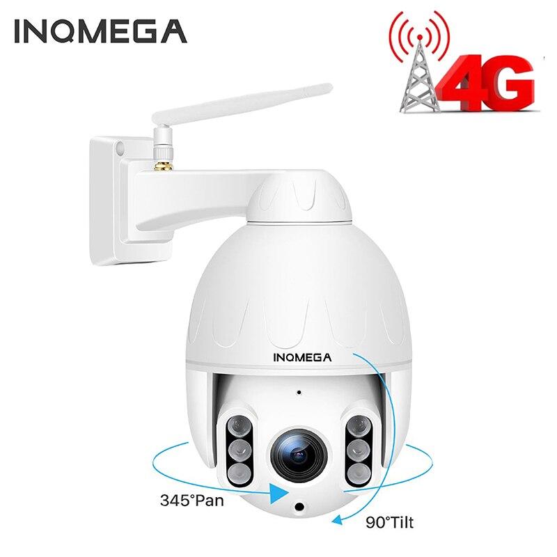 Купольная камера INQMEGA, 4G, SIM карта, Wi Fi, 2 МП, 1080P, PTZ, беспроводная, GSM, IP, CCTV, P2P, ИК, ночное видение, 30 м