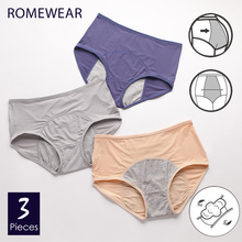 Menstrual Briefs Panties For Women Girls Leakproof Period Underwear Female Breathable Mesh WaterAbsorbHigh Waist Lingerie XXXL
