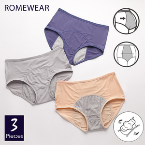 Image 1 - Menstrual Briefs Panties For Women Girls Leakproof Period Underwear Female Breathable Mesh WaterAbsorbHigh Waist Lingerie XXXL