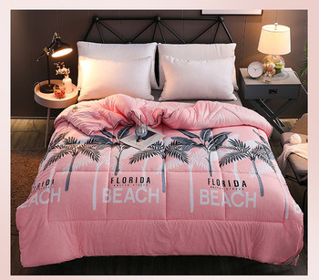 100% Washed cotton soft quilts 200*230cm home bedding winter blanket New Winter comforter Freshness style thicken duvet
