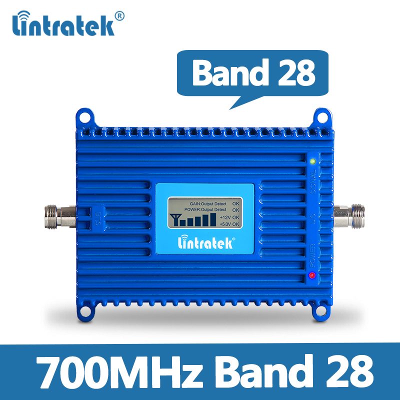 Lintratek Band 28 Signal Booster 4G 700MHz Cell Signal Booster 4G LTE 700mhz B28 AGC Amplifier 4G LTE Internet Signal Booster @8