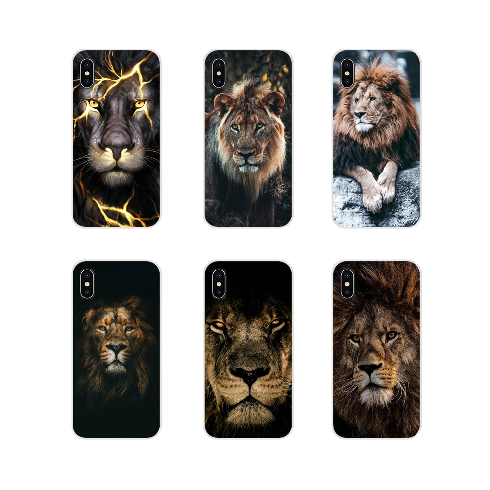 King of animals <font><b>lion</b></font> and Tiger Accessories Phone Cover For Apple <font><b>iPhone</b></font> X XR XS 11Pro MAX 4S 5S 5C SE <font><b>6S</b></font> 7 8 Plus ipod touch 5 6 image