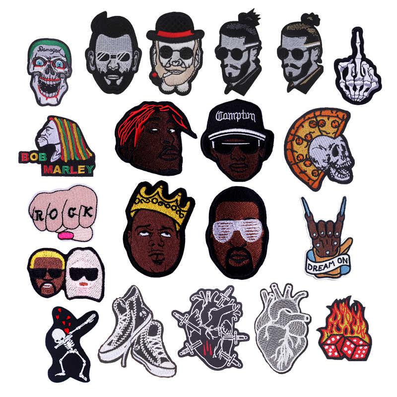 Ferro Su Toppe E Stemmi Per Abbigliamento di Qualità Punk Skull Rock Hippie Messicano FAI DA TE Distintivo Su La Parte Posteriore Della Decalcomania T-Shirt Adesivo Ricamo di Patch