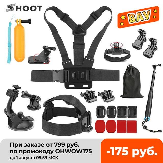 撮影アクションカメラアクセサリー移動プロヒーロー9 7 8 5黒xiaomi李4 18k sjcam Sj4000 eken H9ソニーgoプロカメラキット