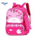 Новые детские сумки с котом для мальчиков и девочек  детские школьные сумки для детского сада  детские сумки с животными  Mochila Infantil