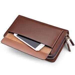 Image 5 - WILLIAMPOLO Marke Mode Hohe Qualität Mens Kupplung Brieftasche Luxus Brieftasche Männer Organizer Brieftasche PL162
