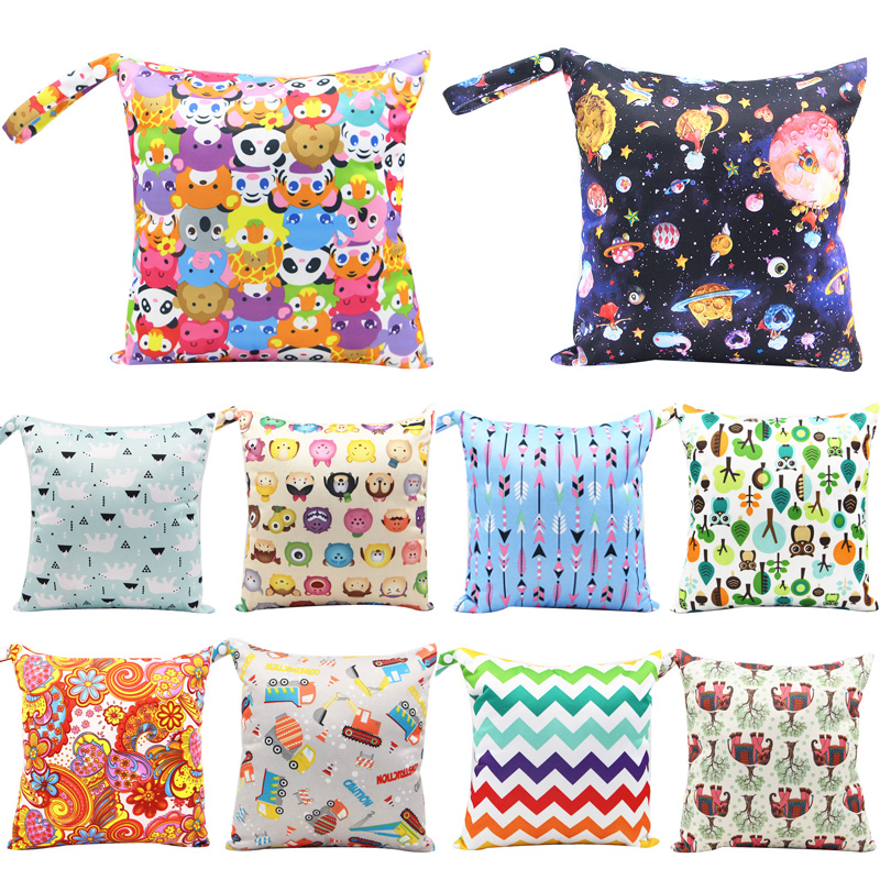 Cute Baby Diaper Bag Printed Waterproof Travel Maternity Small Wet Bags For Mommy Storage Stroller Bag Accessorie Wetbag 28*30cm