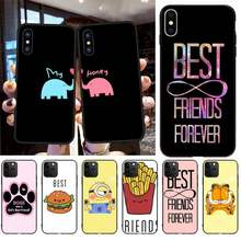 PENGHUWAN Best Friends Girl Hard Newly Arrived Black Cell Phone Case for iPhone 11 pro XS MAX 8 7 6 6S Plus X 5S SE XR case(China)