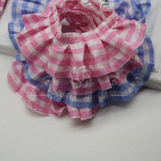 British Style Clothing Accessories Large Lattice Pleated Lace Ribbon DIY Cuff Neckline Skirt Trim Toy Doll Pet Clothes Sewing