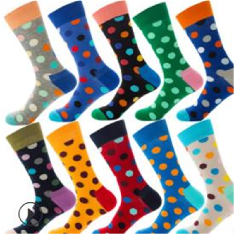 POLKA DOT 12 Color Street Hip-hop Trends, Men And Women In Cotton Socks ZQ045